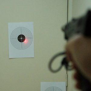 Colimador adaptado para treinamento de tiro